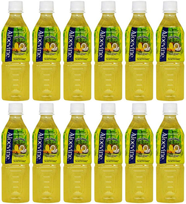 Aloevine Pina Colada Drink, 500 ml (Pack of 12)