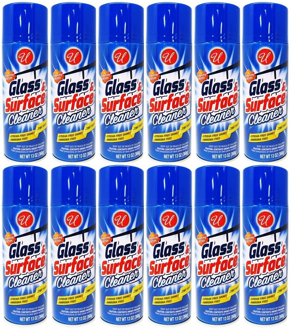 Glass & Surface Cleaner Foaming Action Streak-Free, 13 oz. (Pack of 12)