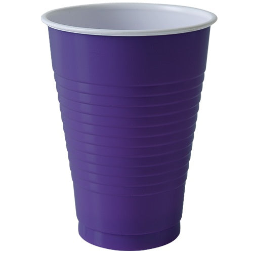 12 oz. Plastic Cup - Purple - 20 Count