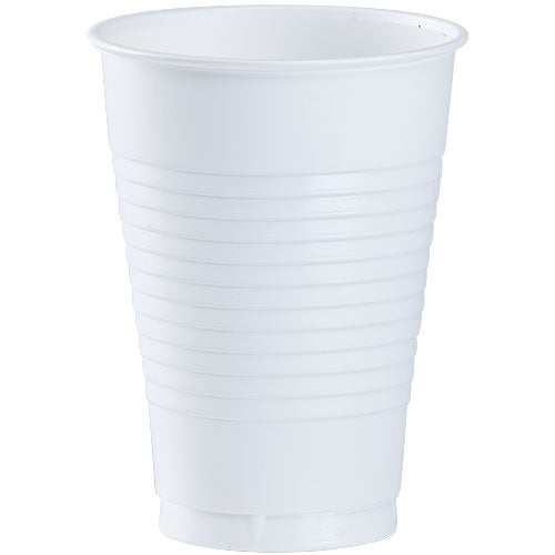 12 oz. Plastic Cup - White - 20 Count