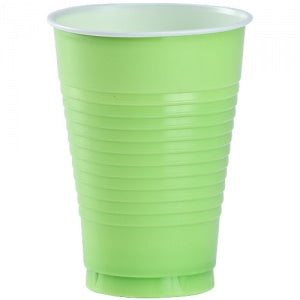 12 oz. Plastic Cup - Lime Green - 20 Count