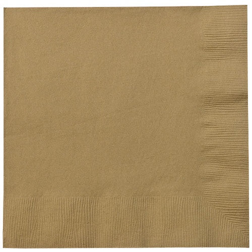 Luncheon Napkin, Gold, 20 Count
