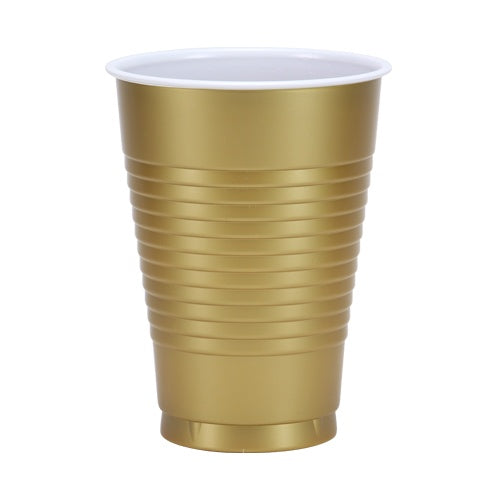 12 oz. Cups - Gold - 20 Count