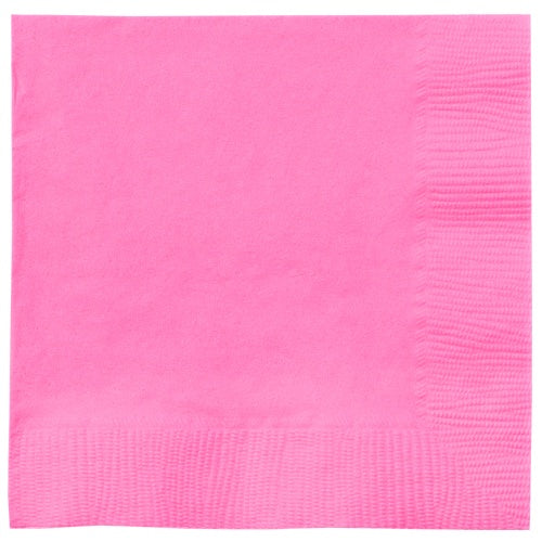 Luncheon Napkin, Hot Pink, 20 Count