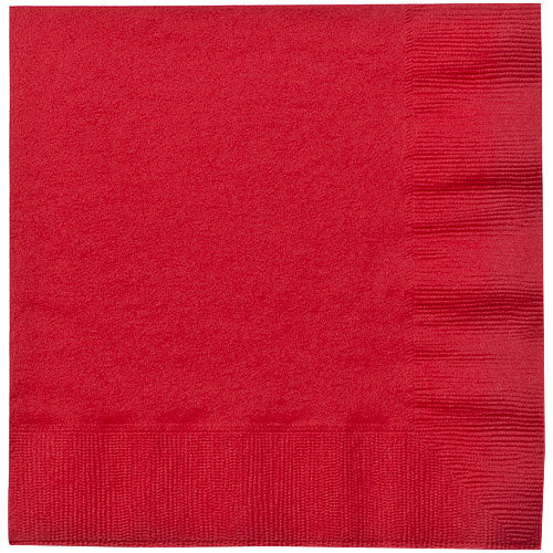 Red Lunch Napkins 20 Count