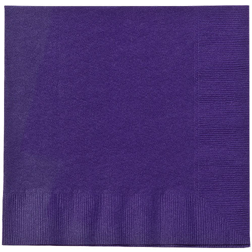 Purple Lunch Napkins 20 Count