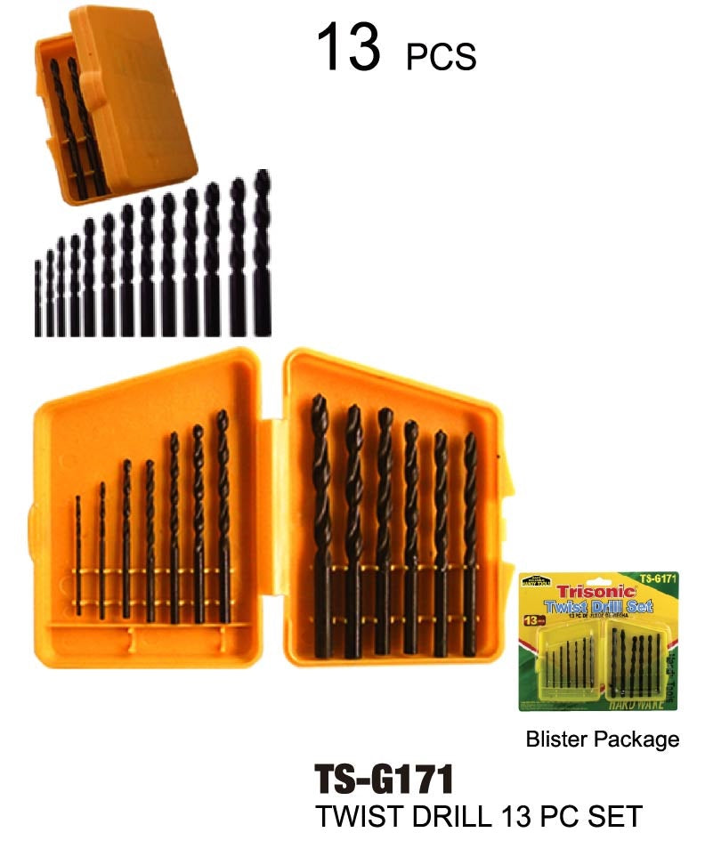 Assorted Twist Drill Set, 13-ct.