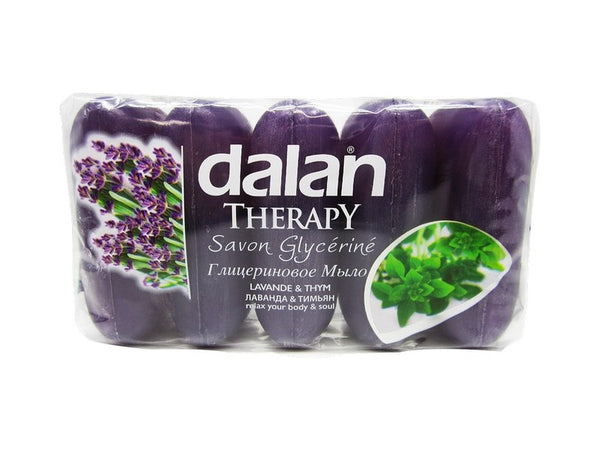 Dalan Therapy Glycerine Soap Lavander & Thyme Soap, 5 Pack