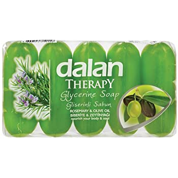 Dalan Therapy Glycerine Soap - Rosemary & Olive Oil, 5 Pack