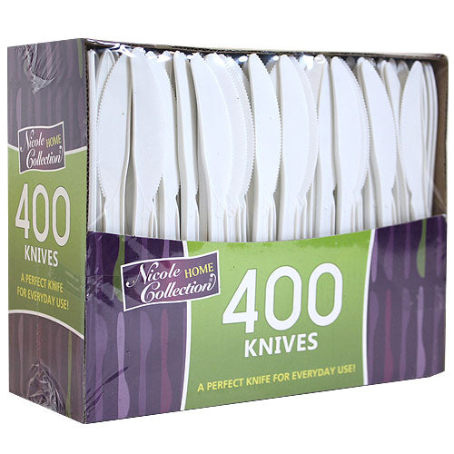 Boxed White Medium Weight Knife 400 Count