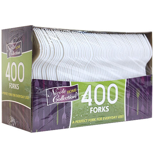 Boxed White Medium Weight Fork 400 Count