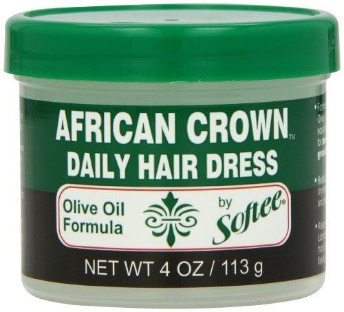 Softee African Crown Daily Hair Dress Olive Oil Formula, 3.5 oz