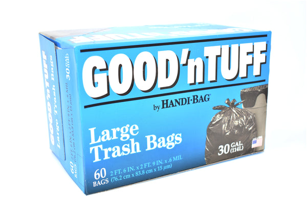 Handi-Bag Good 'n Tuff 30 Gallon Large Trash Bags, 60 ct.