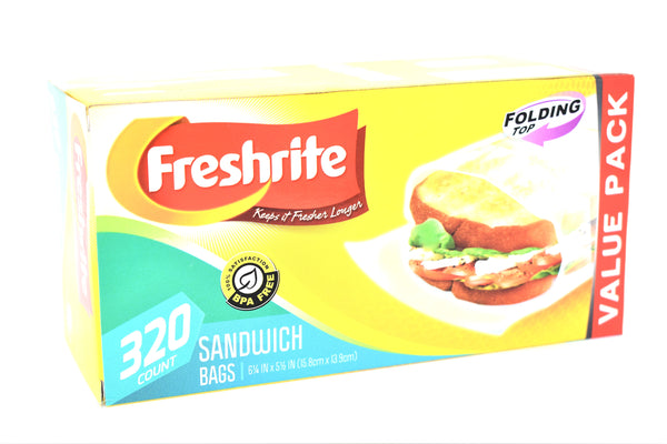 Freshrite Folding Top Sandwich Bags, 320 ct.