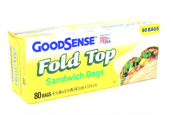 GoodSense Fold Top Sandwich Bags, 80 ct.