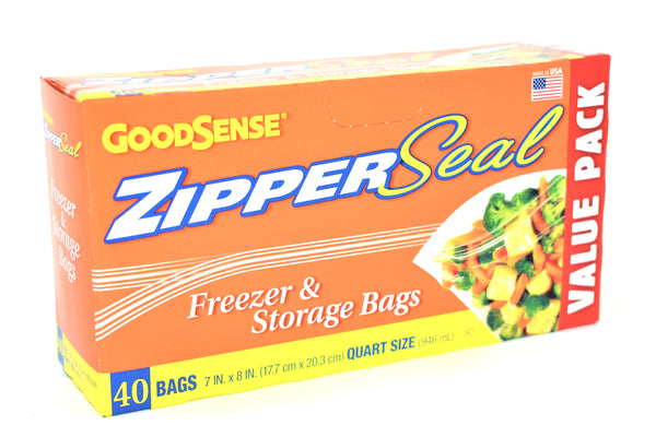 GoodSense Quart Size Freezer & Storage Bags, 40 ct.