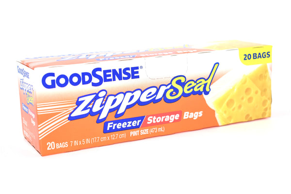 GoodSense Zipper Seal Pint Size Freezer / Storage Bags, 20 ct.