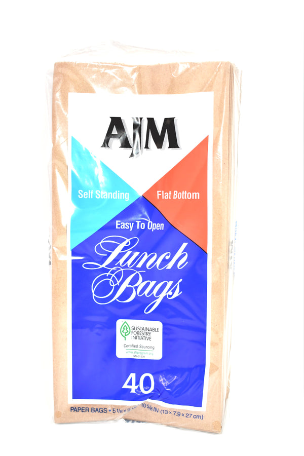 Brown Lunch Paper Bags, 40 ct.