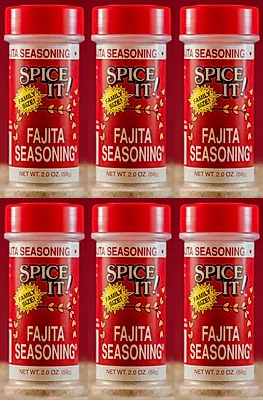 Spice It Family Size Fajita Seasoning, 2 oz (Pack of 6)