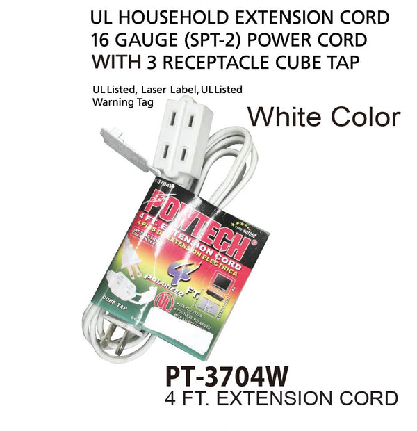 Extension Cord, 4 ft.