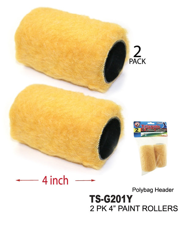 "4"" Paint Rollers, 2-ct."
