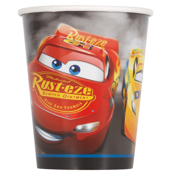Disney Cars 3 Movie 9oz Paper Cups, 8ct