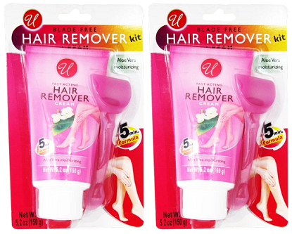 Blade Free Hair Remover Cream Kit - 5 Minute Formula, 5.2 oz. (Pack of 2)