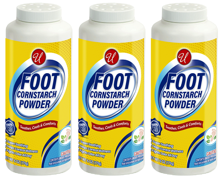 Foot Cornstarch Powder, 6 oz. (Pack of 3)