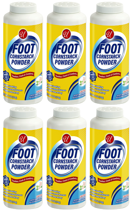 Foot Cornstarch Powder, 6 oz. (Pack of 6)
