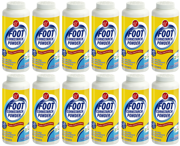 Foot Cornstarch Powder, 6 oz. (Pack of 12)