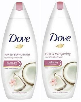 Dove Purely Pampering Coconut Milk & Jasmine Petals Body Wash, 500ml (Pack of 2)