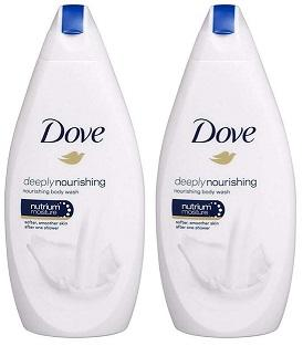 Dove Deeply Nourishing Body Wash, 500ml (Pack of 2)