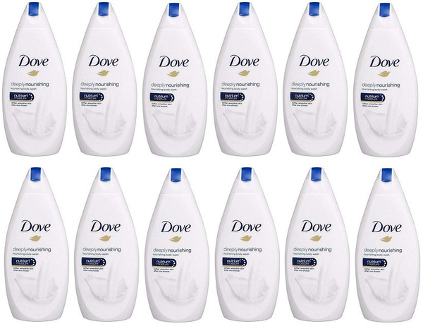 Dove Deeply Nourishing Body Wash, 500ml (Pack of 12)