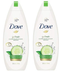 Dove Go Fresh Cucumber & Green Tea Scent Body Wash, 500ml (Pack of 2)