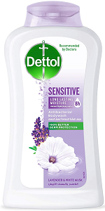 Dettol Sensitive Antibacterial Body Wash Lavender & White Musk, 300g