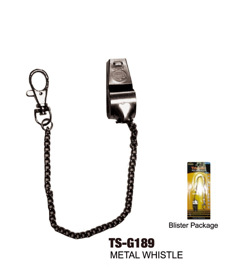 Metal Whistle and Chain