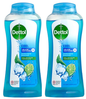 Dettol Cool Long Lasting Protection Antibacterial Body wash, 300 gm (Pack of 2)