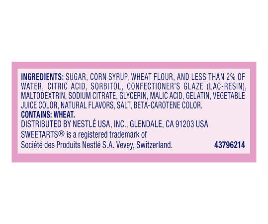 Sweetarts Cherry Ropes Candy, 3 oz