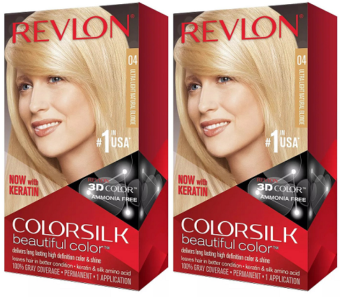 Revlon ColorSilk Beautiful Color™ Hair Color - 4 Ultra Light Natural Blonde (Pack of 2)
