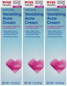 CVS Health Quick Action Vanishing Acne Cream 1 oz (EXP 04/20) (Pack of 3)