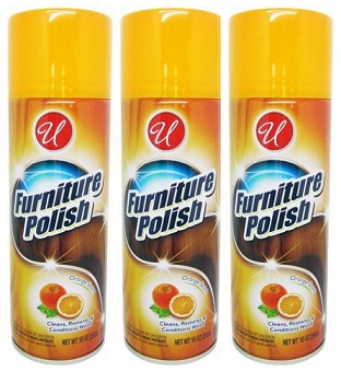 Orange Scent Furniture Polish, 10 oz. (Pack of 3)
