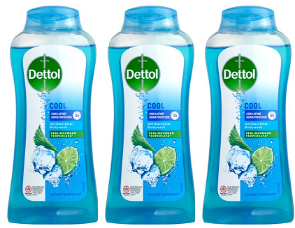 Dettol Cool Antibacterial Body Wash Icy Mint & Bergamot, 300g (Pack of 3)