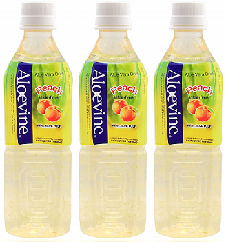 Aloevine Peach Drink, 500 ml (Pack of 3)