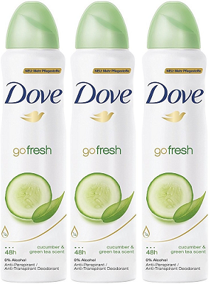 Dove Go Fresh Cucumber & Green Tea Scent Anti-Perspirant Body Spray, 150 ml (Pack of 3)