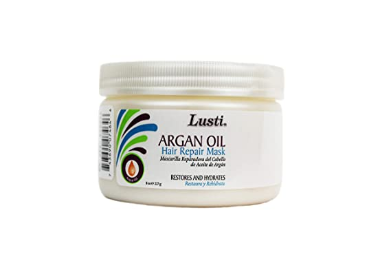 Lusti Naturals Argan Oil Hair Repair Mask, 10 oz.