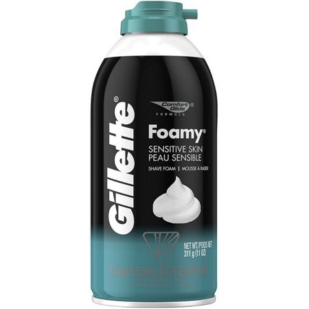 Gillette Foamy Sensitive Skin Shaving Cream, 11 oz.