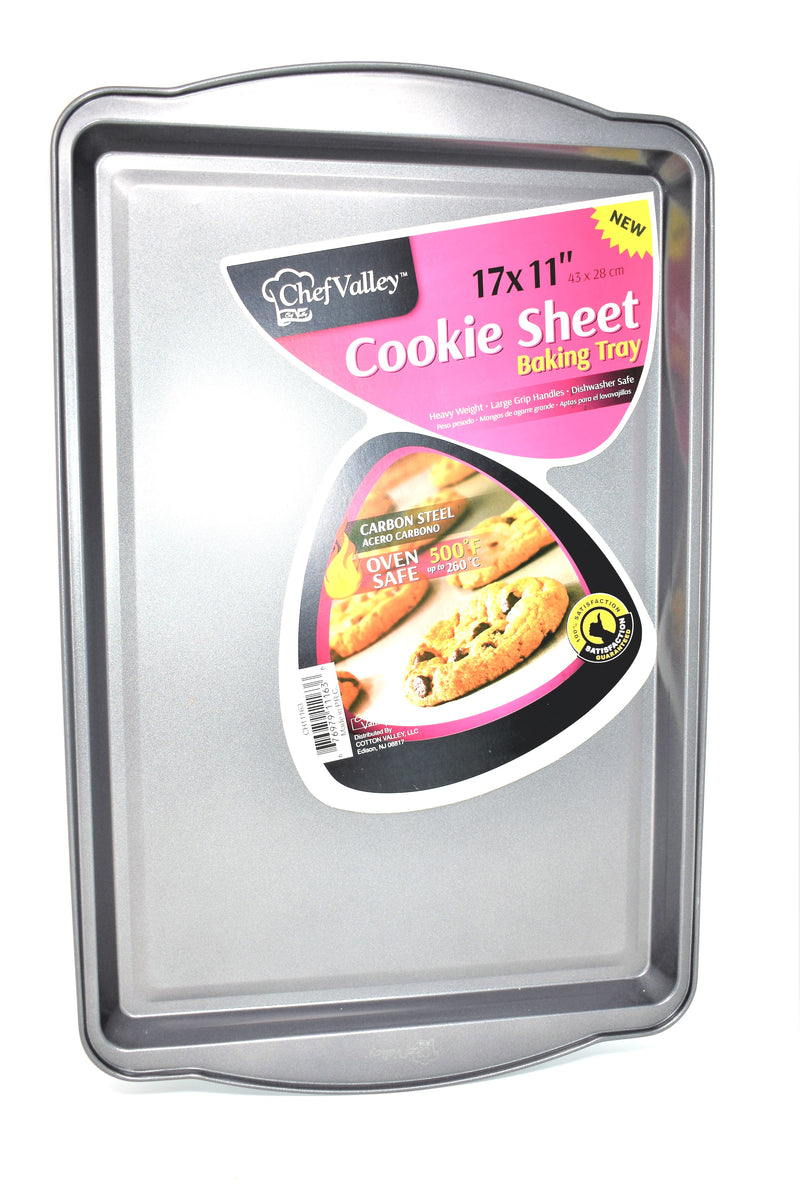 "Chef Valley Cookie Sheet Baking Tray Pan, 17"" x 11"""