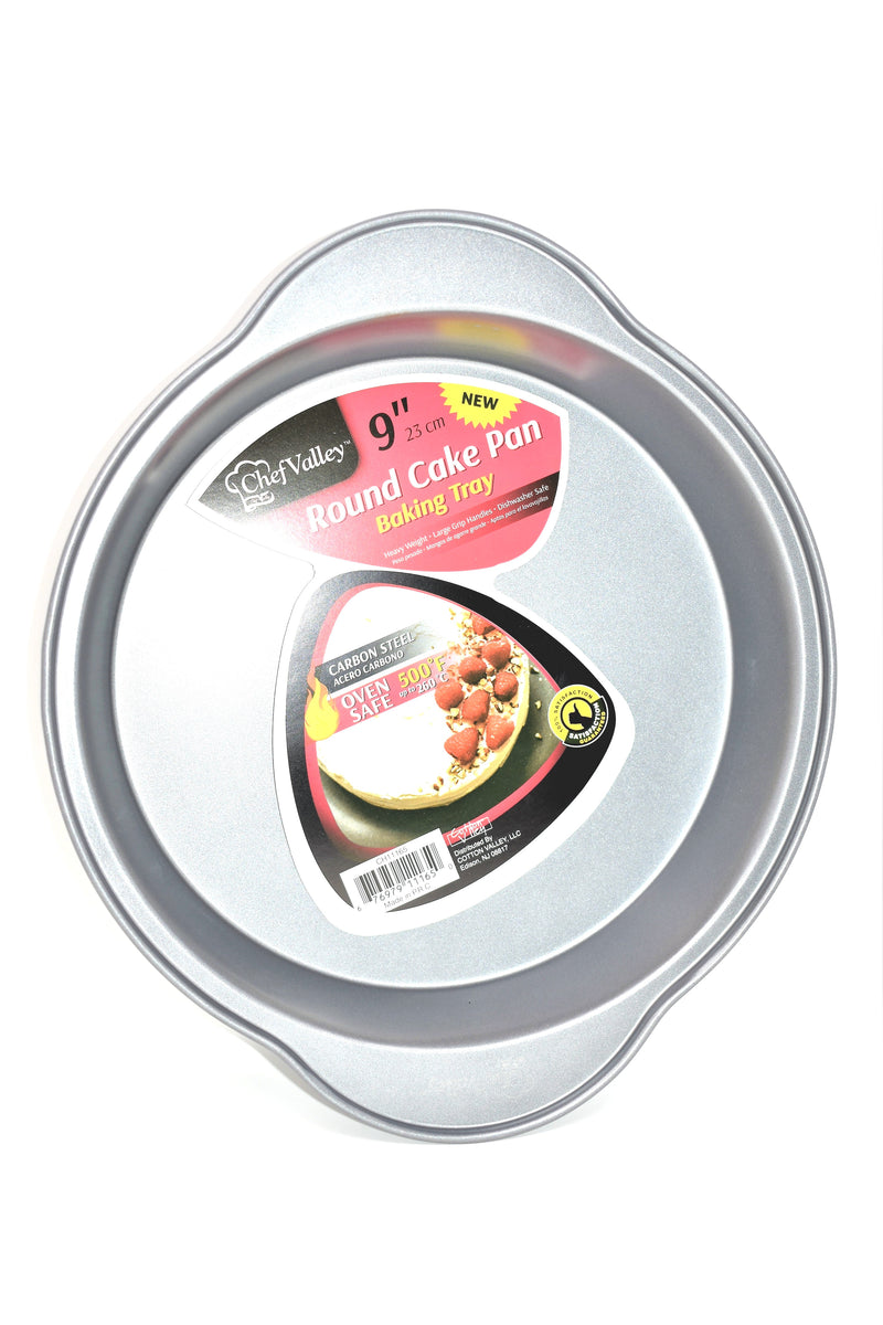 Chef Valley Round Cake Baking Tray Pan, 9""