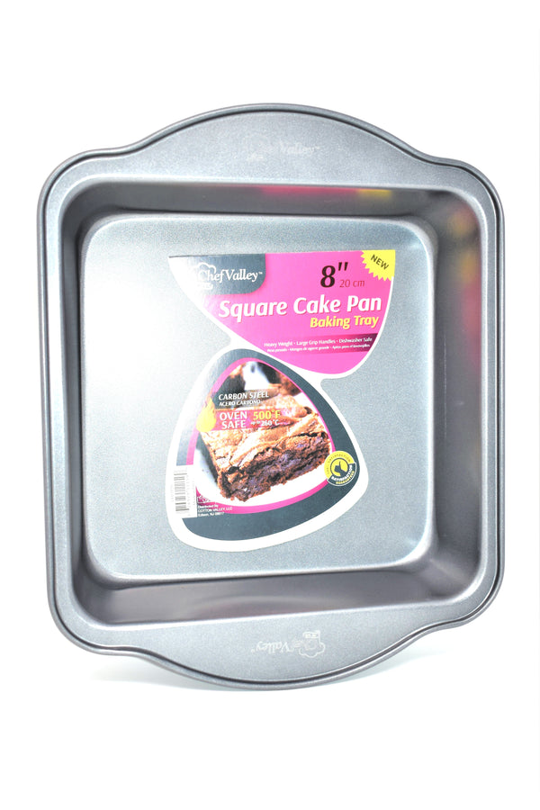 Chef Valley Square Cake Baking Tray Pan, 8""