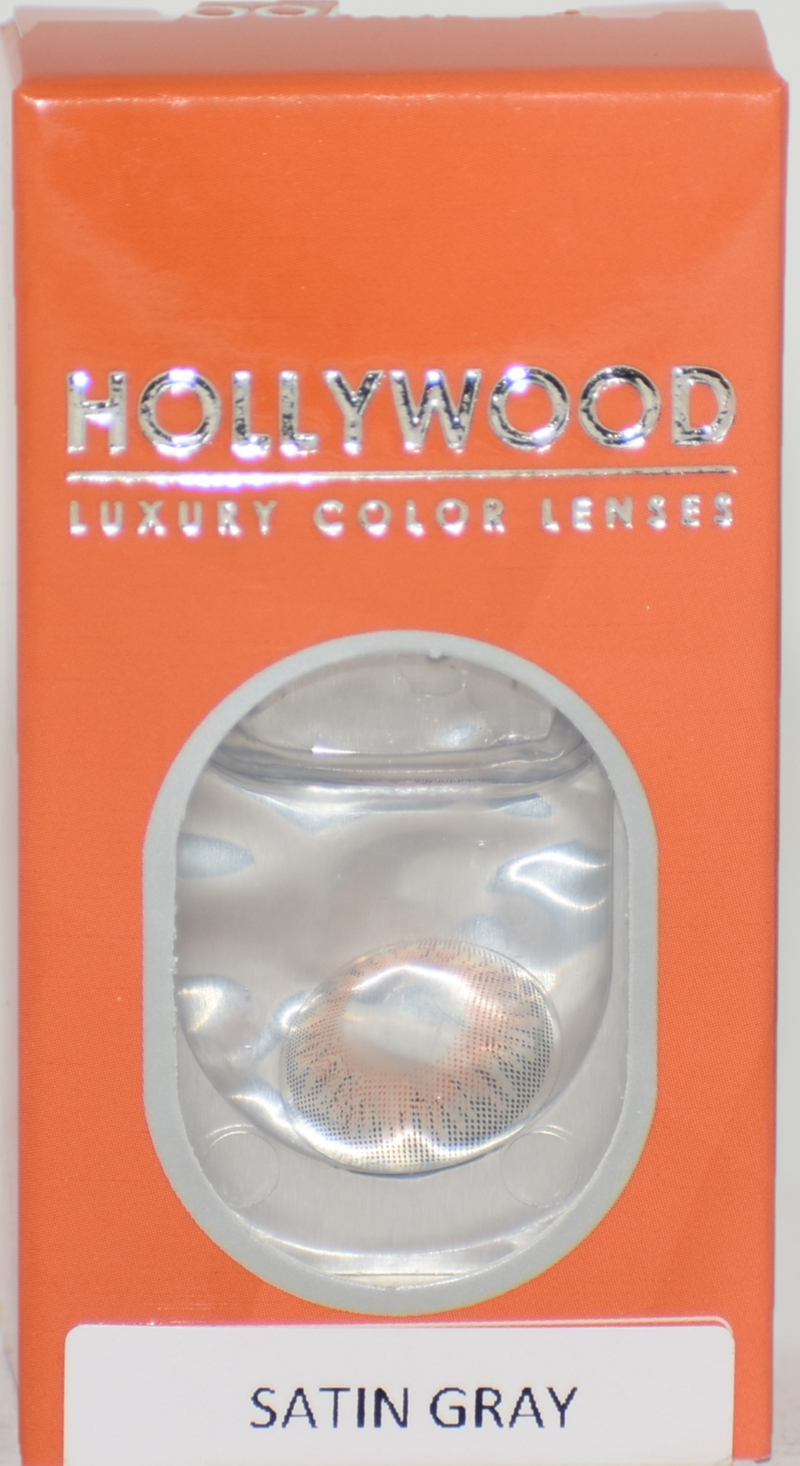 Hollywood Luxury Satin Gray Color Lenses